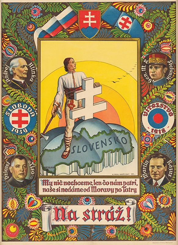Vincek Hochšteský. Na stráž!. 1939. Dekoratívny obraz. Slovenské národné múzeum - Historické múzeum, Bratislava