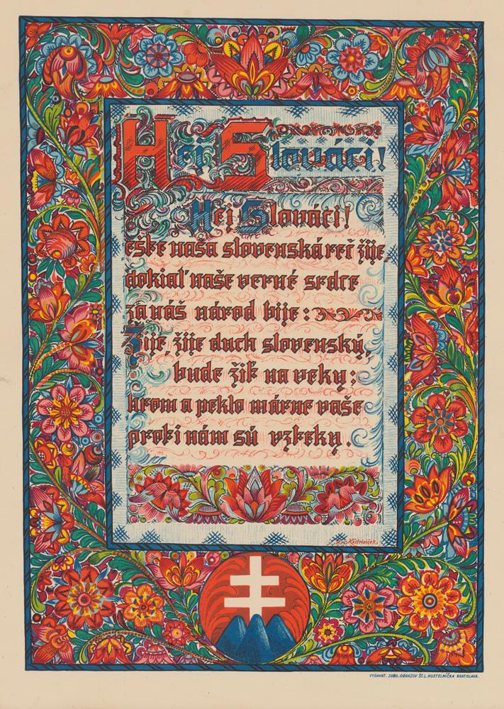 Štefan Leonard Kostelníček. Hey, Slovaks. 1939 – 1945. Decorative painting. SNM – HM