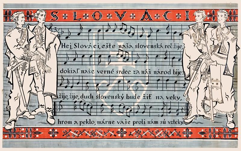 Martin Benka: Slovaks. 1940 – 1943. Poster design. SNM - Museum in Martin