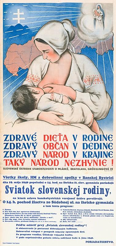 Andrej Kováčik - Zdravé dieťa v rodine..., 1940, Ministerstvo vnútra SR - Štátny archív v Banskej Bystrici