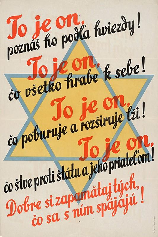 Neznámy autor - To je on, poznáš ho podľa hviezdy!, 1941 – 1942, Slovenské národné múzeum - archív SNM v Bratislave
