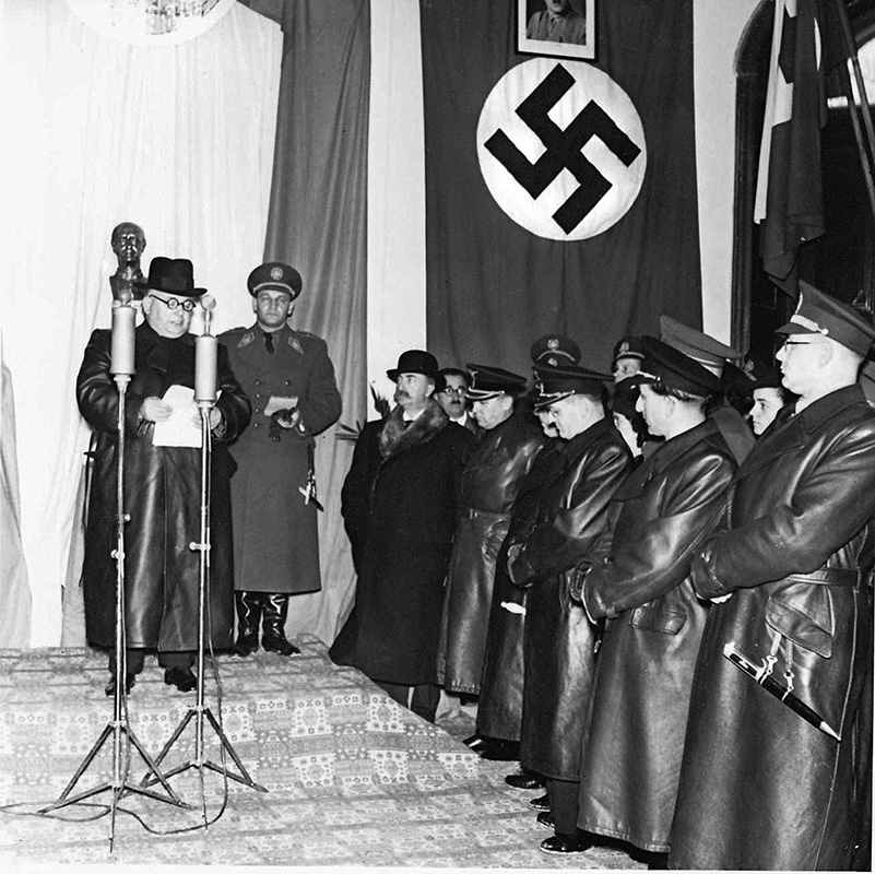 Ladislav Roller - Opening of the Hlinka Youth Leadership School in Chtelnica, 23. 11. 1941, Slovak National Archive, Bratislava - Slovak Press Office