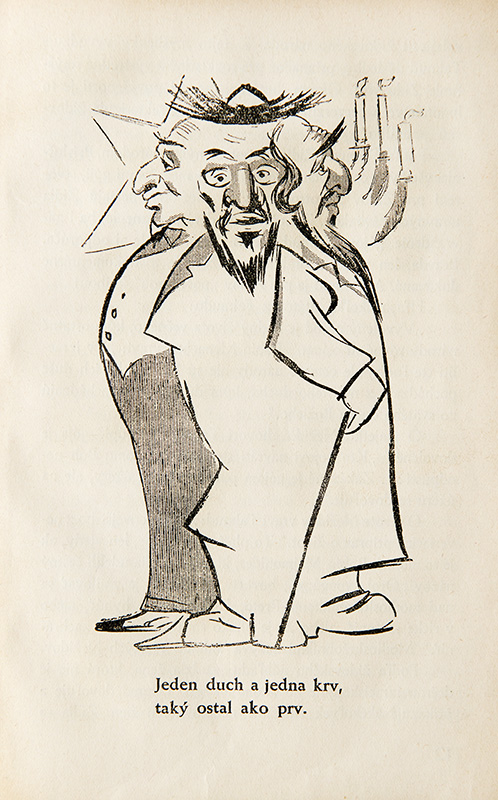Unknown Author - Anti-Semitic Caricature from the Publication: Ctibor Pokorný - Judaism in Slovakia, 1940, University Library in Bratislava