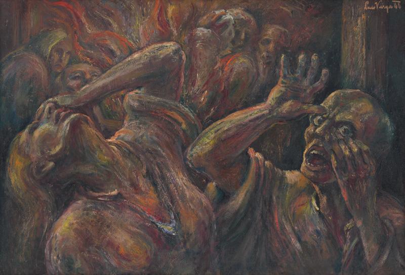 Ľudovít Varga - Výjav z koncentráku, 1944, Slovenská národná galéria