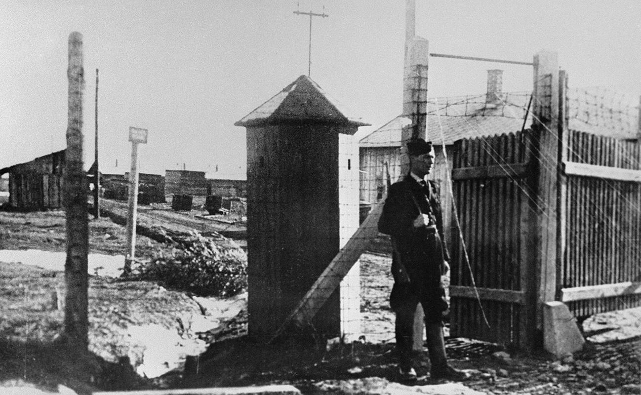 Neznámy autor - Pracovný tábor v Novákoch pre rasovo prenasledovaných občanov židovského obyvateľstva, 1941, Vojenský historický ústav (VHÚ) - Vojenský historický archív, Bratislava