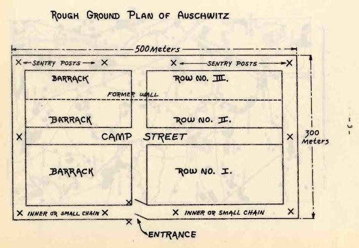 Rudolf Vrba; Alfred Wetzler - War Refugee Board Auschwitz Report, str.3, 1944, Internet Archive