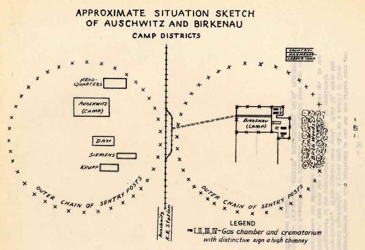 Rudolf Vrba; Alfred Wetzler - War Refugee Board Auschwitz Report, str.40, 1944, Internet Archive
