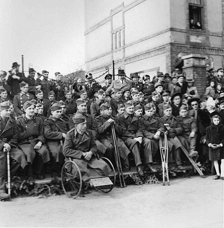 Koloman Cích - Celebrations of the Fourth Anniversary of Slovak Independence - Military Veterans from the Eastern Front, 1943, Slovak National Archive, Bratislava - Slovak Press Office