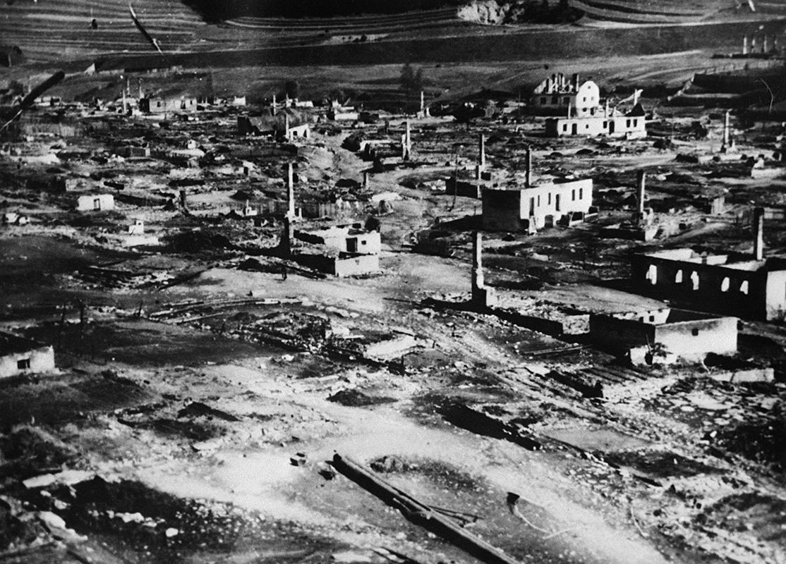 Neznámy autor - Partizánska obec Telgárt vypálená fašistami , 30. 9. 1944, Vojenský historický ústav (VHÚ) - Vojenský historický archív, Bratislava