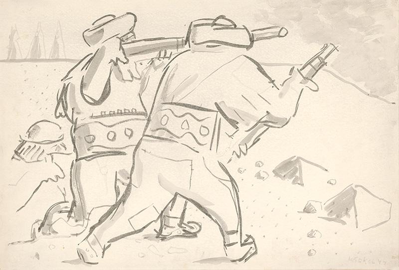 Koloman Sokol - Slovak Insurgents, 1944, Slovak National Gallery