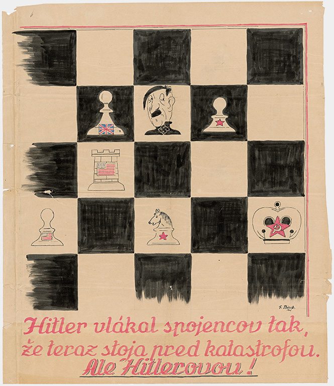 F. Bizub - Hitler baited the Allies and now they're facing a catastrophe..., 1945, Slovak National Archive