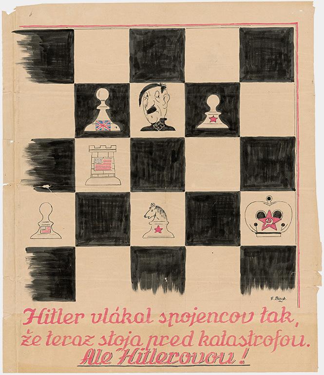 F. Bizub - Hitler vlákal spojencov tak, že teraz stoja pred katastrofou..., 1945, Slovenský národný archív