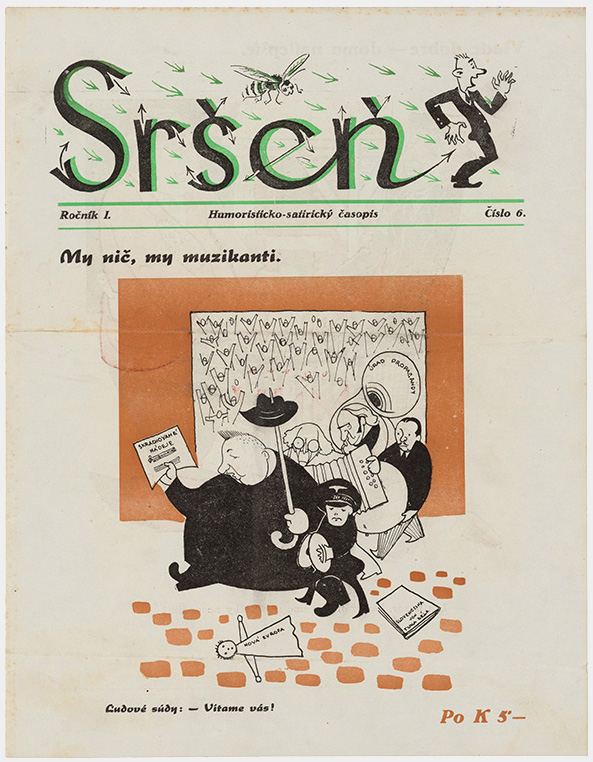 Unknown Author - Satirical Magazine Sršeň (Hornet) - Playing Dumb, 1945, Slovak Design Museum, Bratislava
